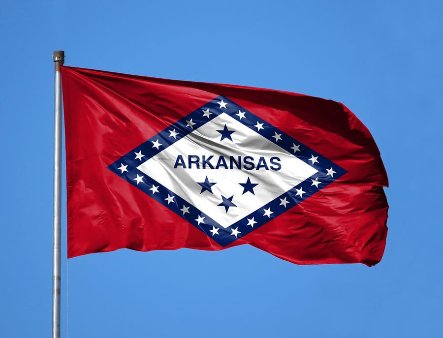 National Flag State Of Arkansas