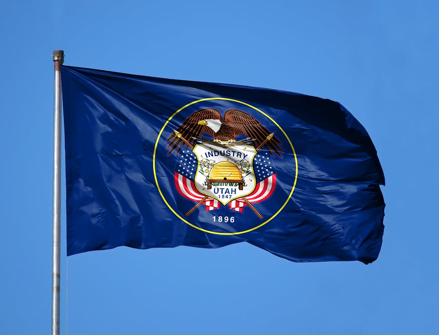 National Flag State Of Utah